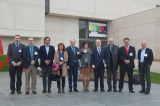 Directores Generales FORTA frente a la Facultad de Comunicación